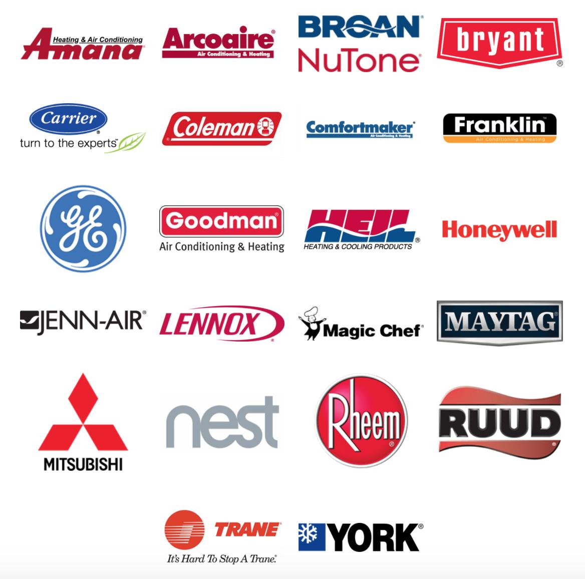 Top AC Brands We Service